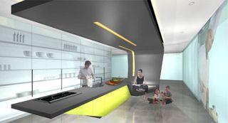 Futuristic kitchen design electrolux icon appliances